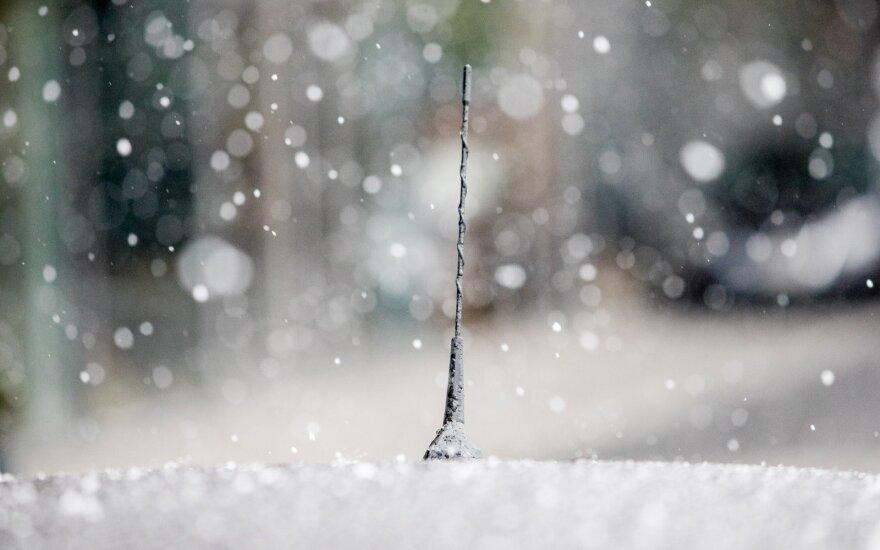 Майский Вильнюс: в столицу вернулась зима