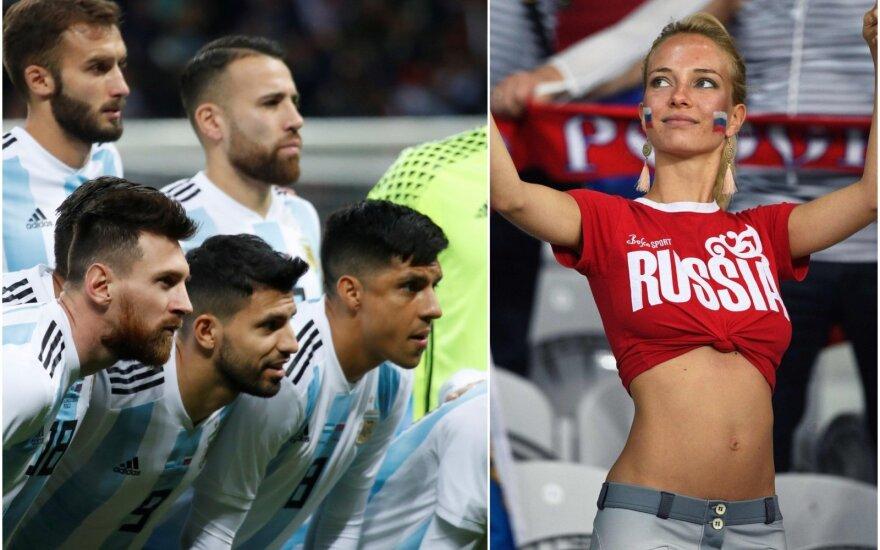 """Argentinos futbolo asociacija atsiprašė už """"flirtavimo vadovą"""" pasaulio čempionatui"""