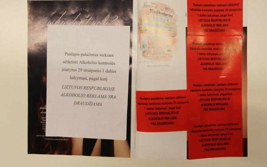 В Литве пока не спешат наказывать за распространение журналов с рекламой алкоголя