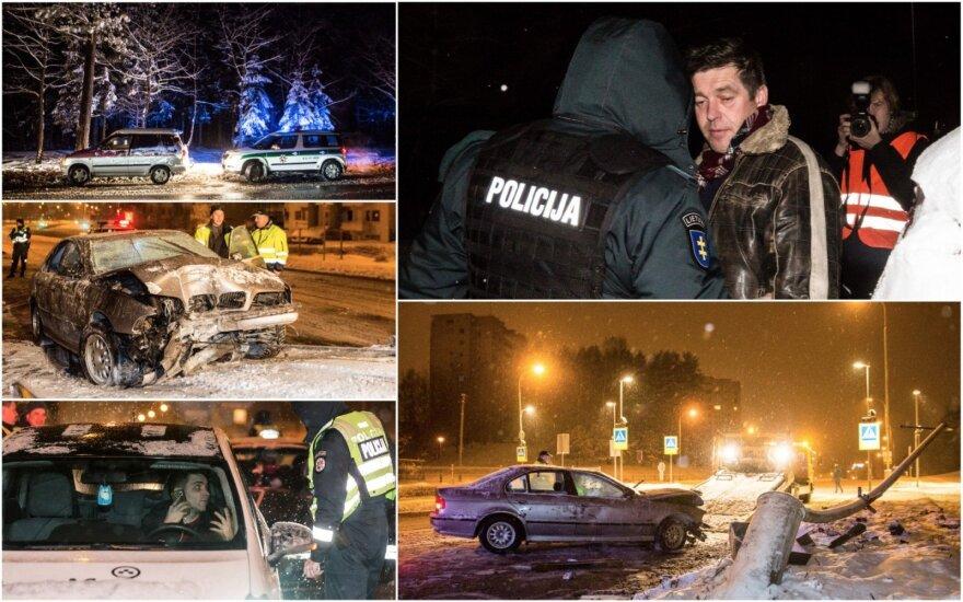 Ночной рейд в Вильнюсе: таксист без прав и пьяная компания