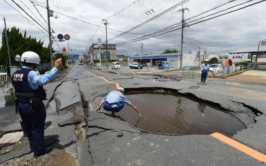 На западе Японии произошло мощное землетрясение