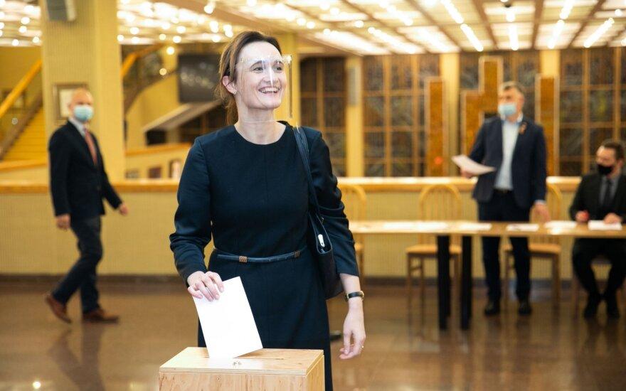 Лидер Движения либералов Чмилите-Нильсен стала спикером сейма Литвы