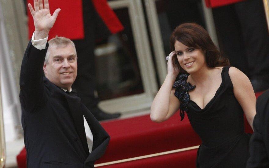 Princas Andrew su princese Eugenie