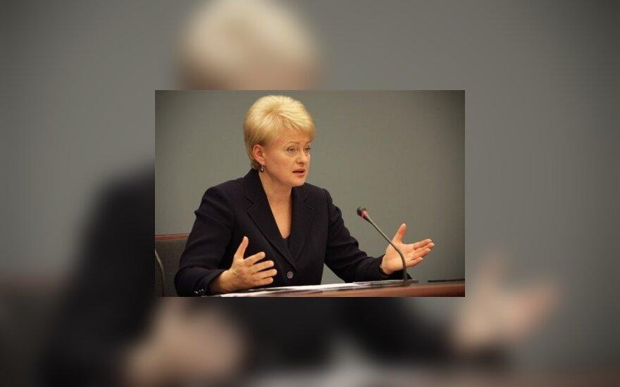 Грибаускайте: Литва еще надеется ввести евро через 4 года