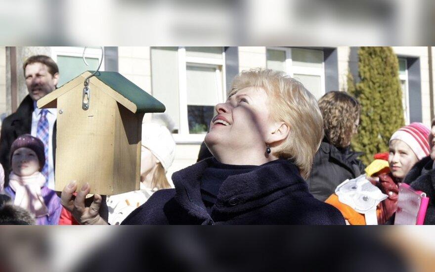 Dalios Grybauskaitės vizitas Vilniaus gamtininkų centre