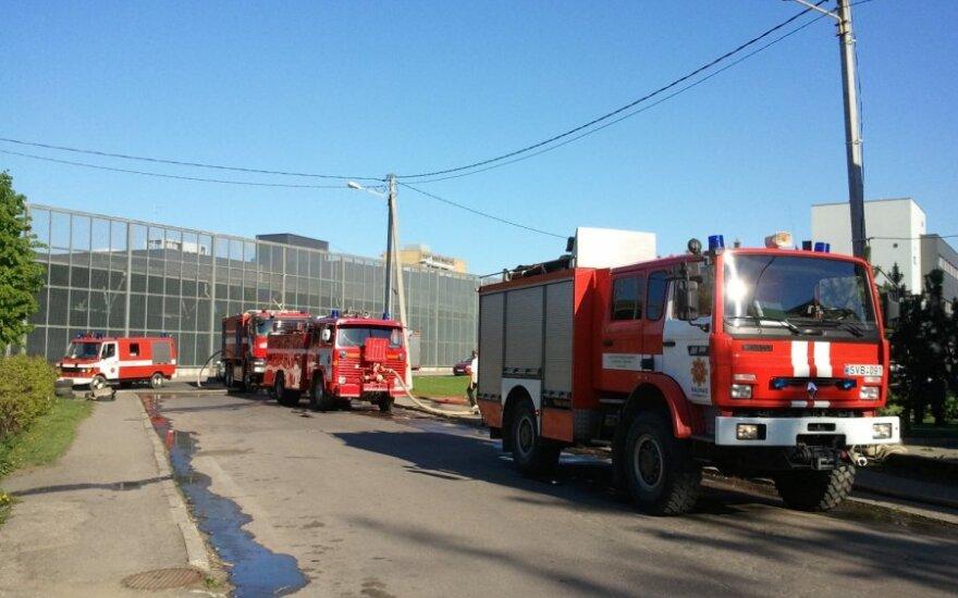 Straszny pożar w Kownie