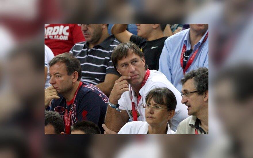 Šarūnas Marčiulionis rungtynes stebėjo Stambule