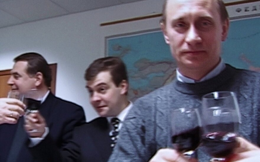 Юрий Шевченко, Дмитрий Медведев, Владимир Путин. Март 2000 года.