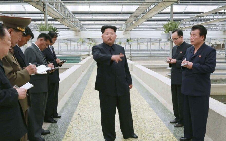 Kim Jong Unas vėžlių fermoje