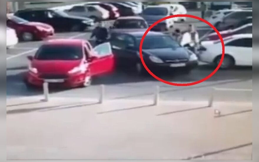 Kłótnia na parkingu