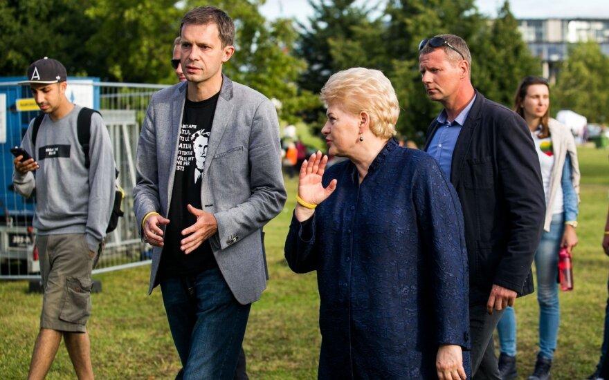 Andrius Tapinas ir Dalia Grybauskaitė