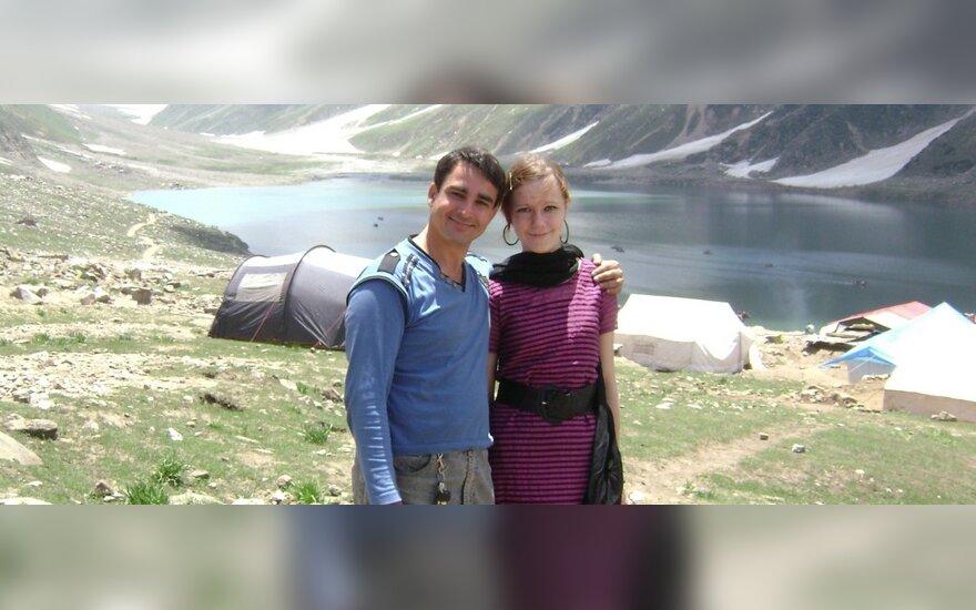 Aurelija Radžiūnaitė su vyru