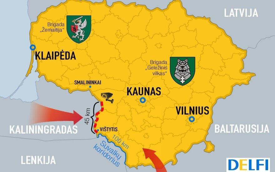Завершается строительство защитного забора вдоль границы Литвы и России