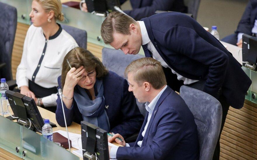 Rima Baškienė, Gabrielius Landsbergis, Ramūnas Karbauskis