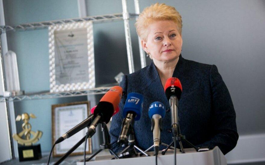 Dalia Grybauskaitė: O pisowni nazwisk zadecydują językoznawcy, a nie politycy