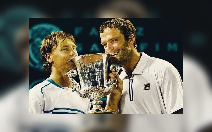 R. Berankis ir T. Gabašvilis (U.S. Men's Clay Court Championship nuotr.)