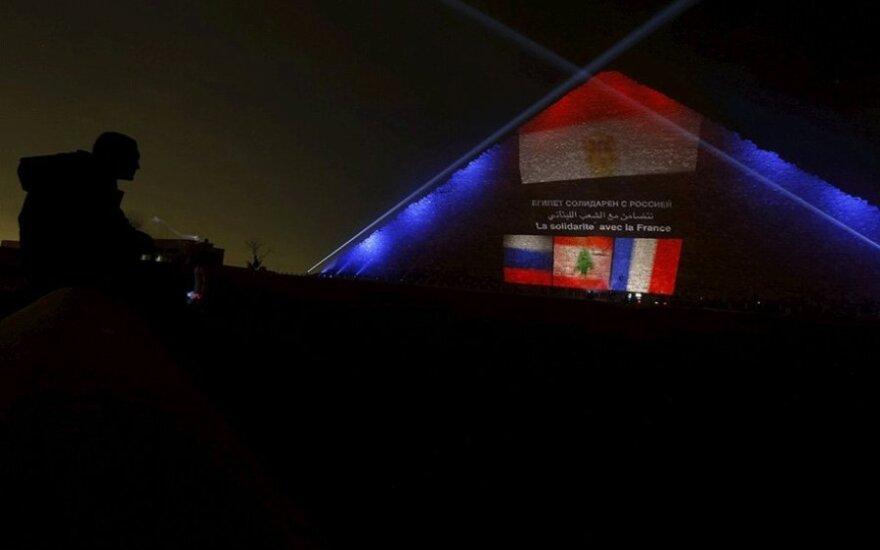 Пирамиды Гизы осветили цветами флагов России, Ливана и Франции