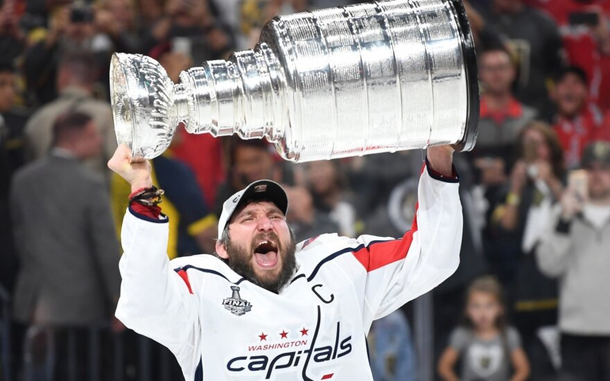 """Washington Capitals"" pirmąkart tapo NHL čempione"