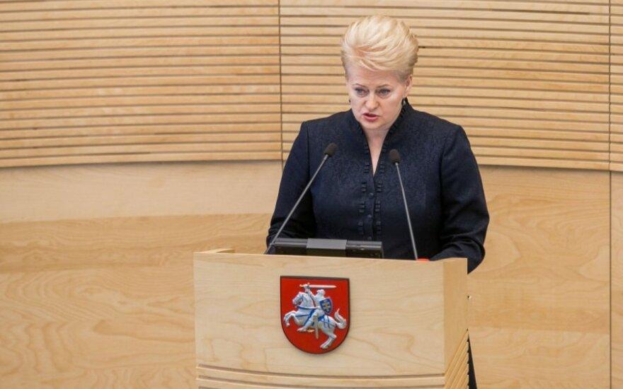 Грибаускайте: провокациями и насилием хотят сорвать выборы президента Украины