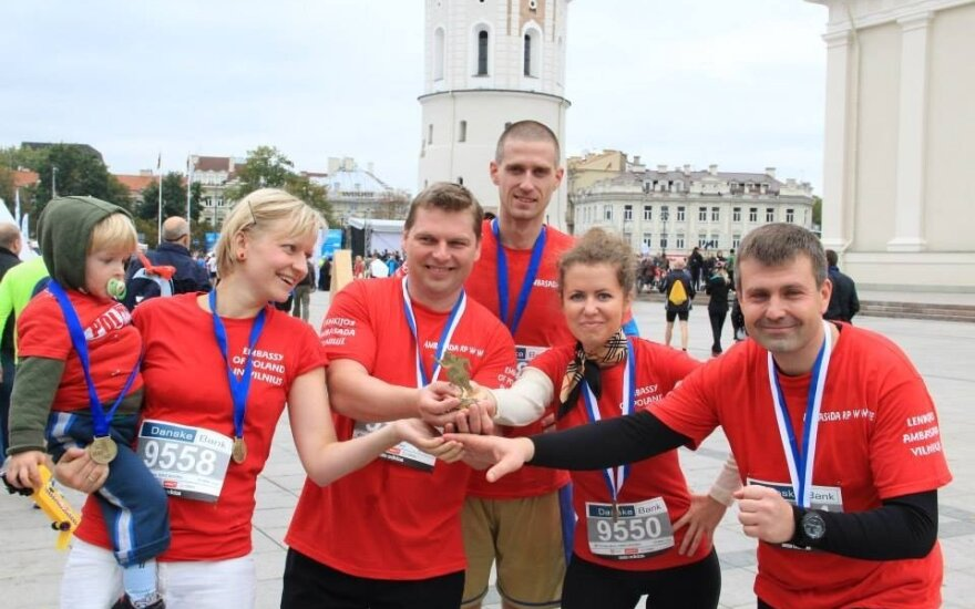 Ambasada RP w Wilnie na maratonie