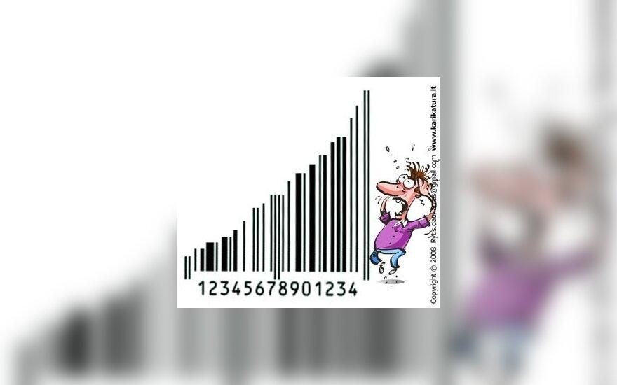 Kainos, brangimas, infliacija, karikatūra