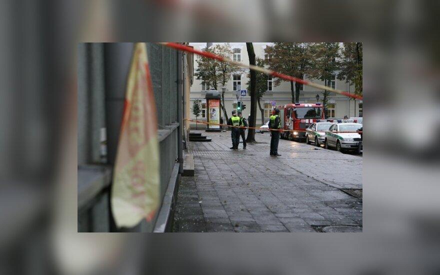 В старой части Вильнюса прогремел взрыв