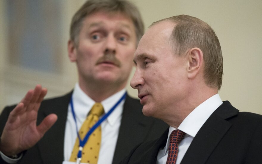 Dmitry Peskov and Vladimir Putin