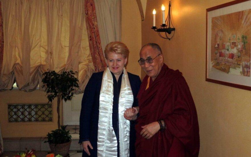 Grybauskaitė spotkała się z Dalajlamą