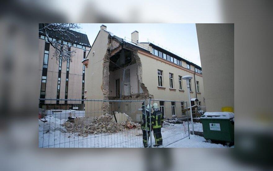 W centrum Wilna zawalił się dom