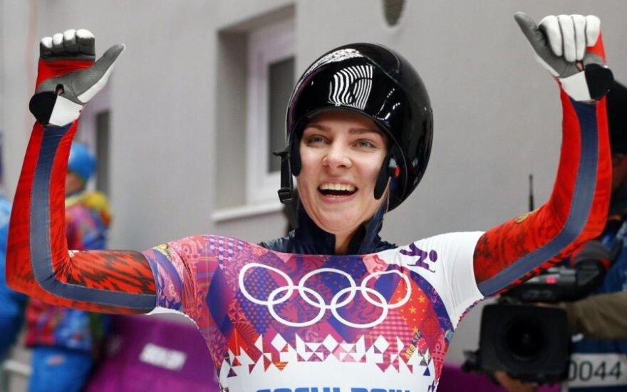 Россиянка впервые завоевала олимпийскую медаль в скелетоне