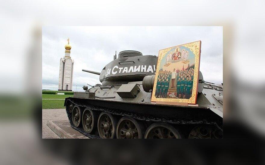 В России священник провел молебен у иконы со Сталиным