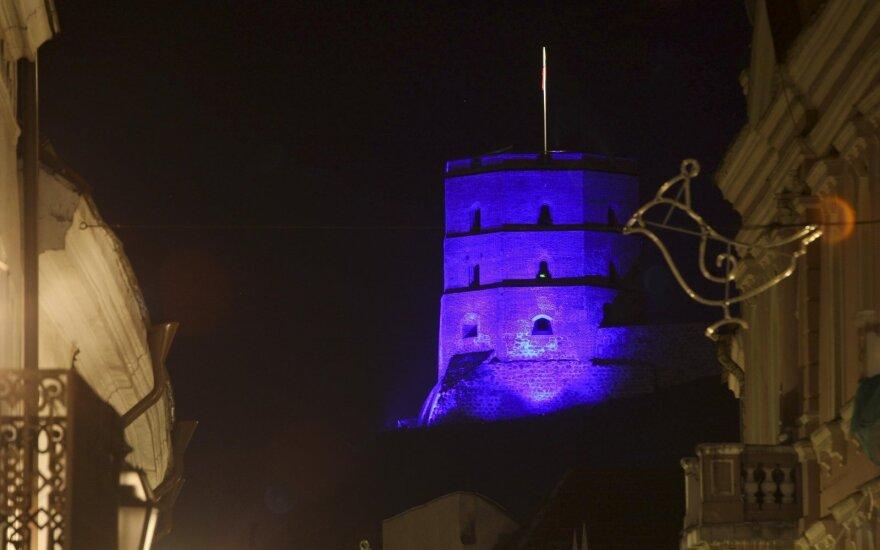 Mėlynas Gedimino bokštas