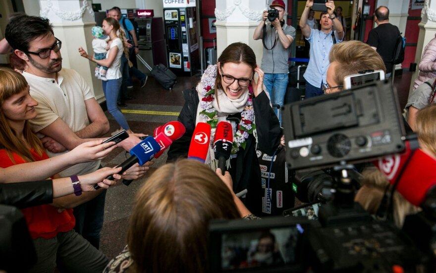 """Представительница Литвы на """"Евровидении"""" вернулась на родину"""