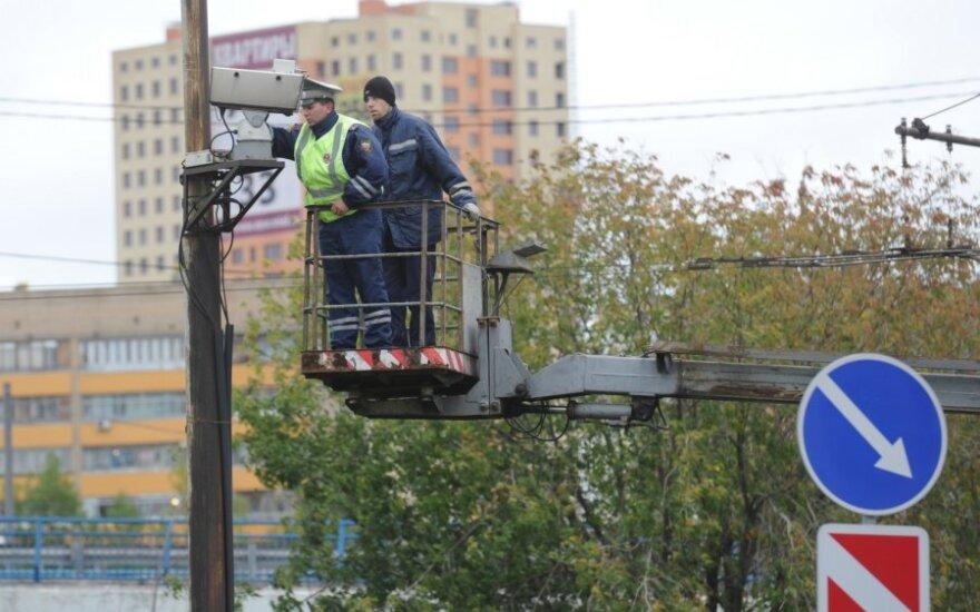 Maskvoje tvirtinama eismo stebėjimo kamera