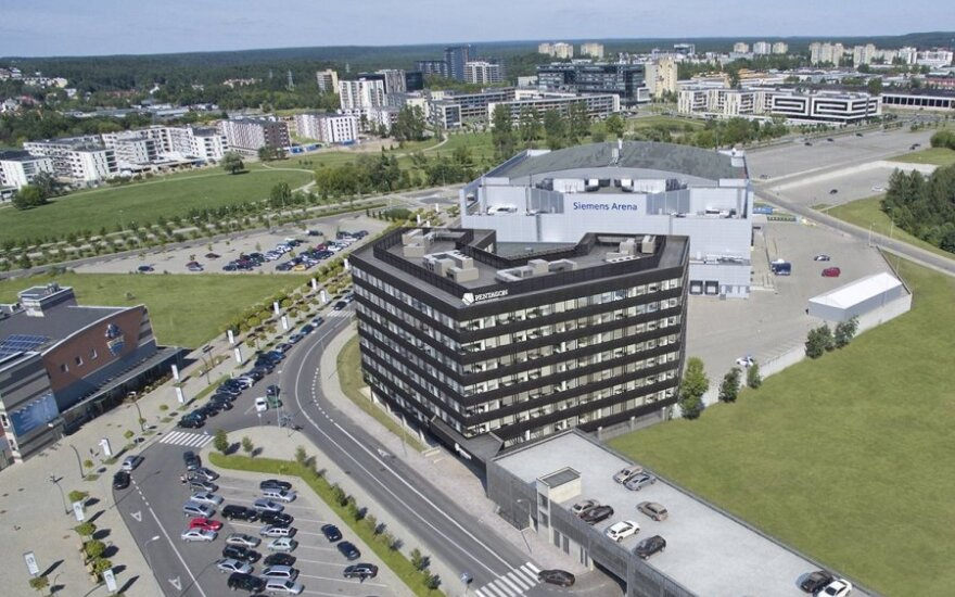В Вильнюсе строится бизнес-центр Pentagon