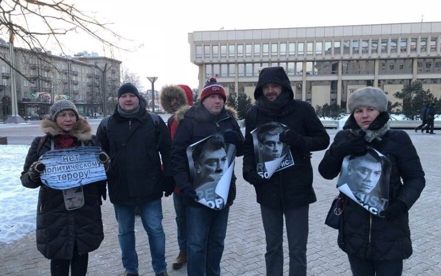 В Вильнюсе прошла акция в память о Борисе Немцове