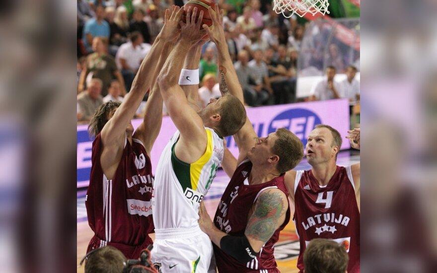 Krepšinio rungtynės: Lietuva - Latvija