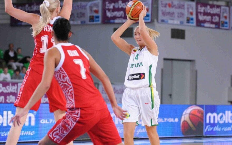 Kovoja Lietuvos ir Rusijos krepšininkės