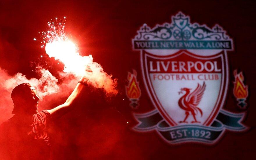 """""""Liverpool"""" fanai švenčia"""