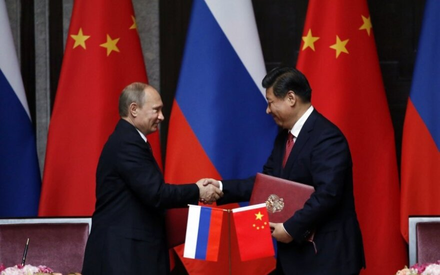 Vladimiras Putinas ir  Xi Jinpingas