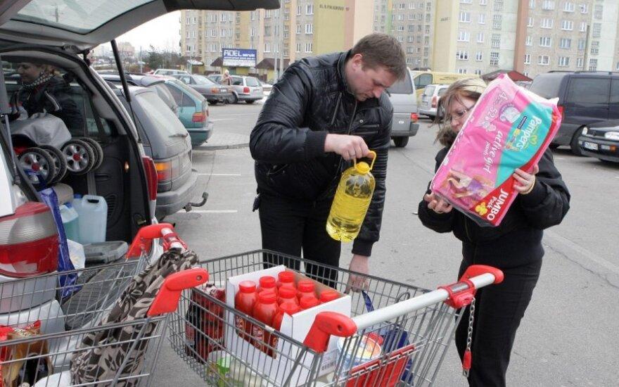 Pirkiniai, lietuviai Lenkijoje, maisto prekės