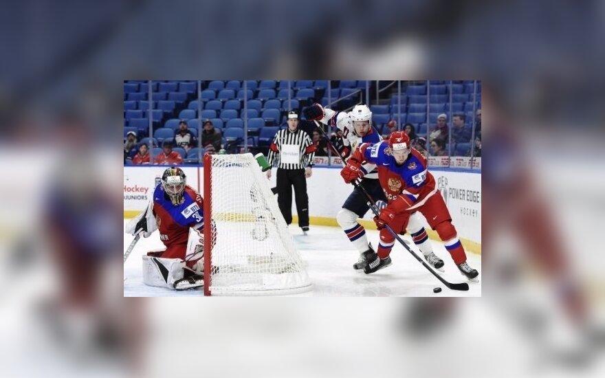 Россия уступила США в 1/4 молодежного чемпионата мира по хоккею