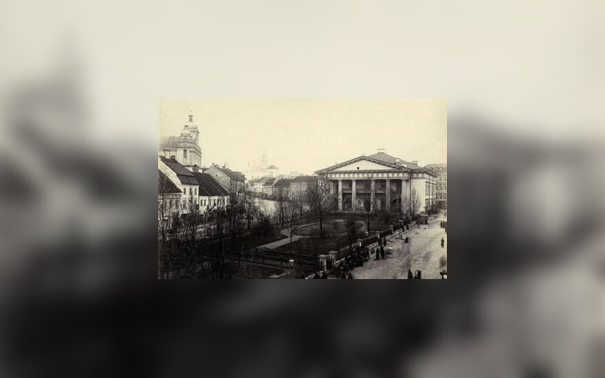Józef Czechowicz. Teatro skveras (dabar Rotušės aikštė) 1870–1880. VUB