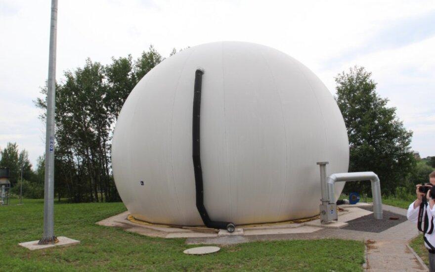 Obelių spirito varykla ir biodujų jėgainė. Dujų talpykla.