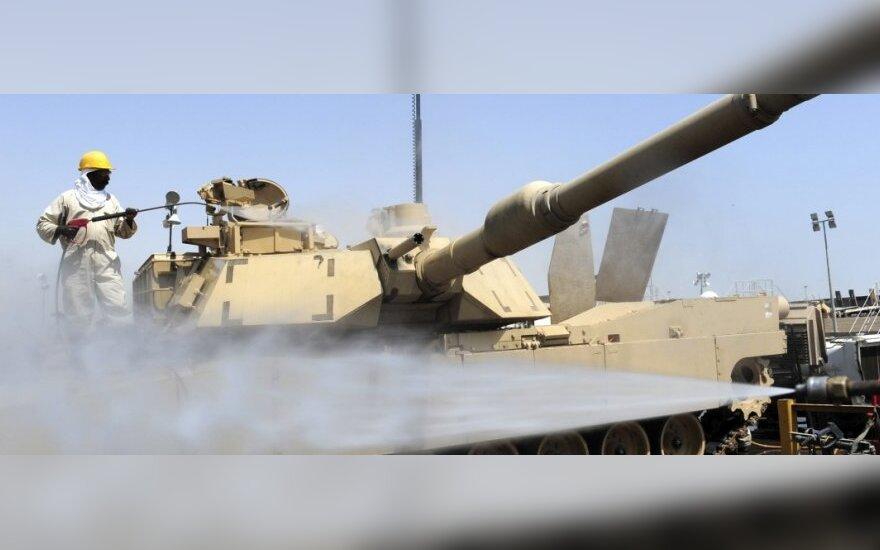 Американские танки Abrams - уже на литовском полигоне в Рукле