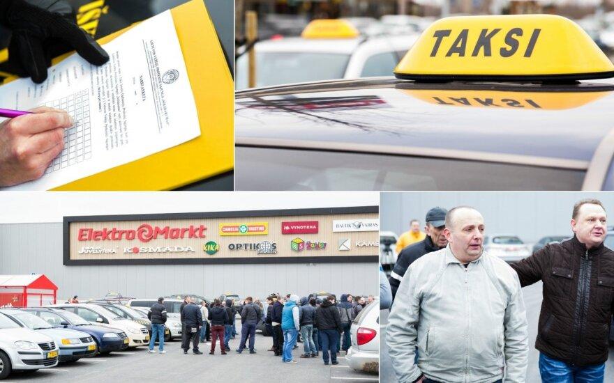 Водители такси у ТЦ Ikea обсуждали действия после прихода Uber