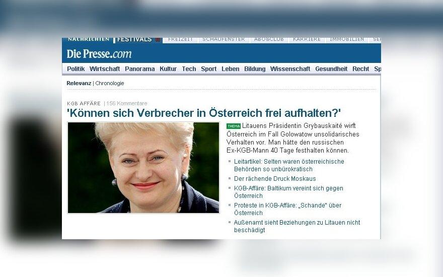"""Straipsnis Austrijos dienraščio """"Die Presse"""" tinklalapyje"""