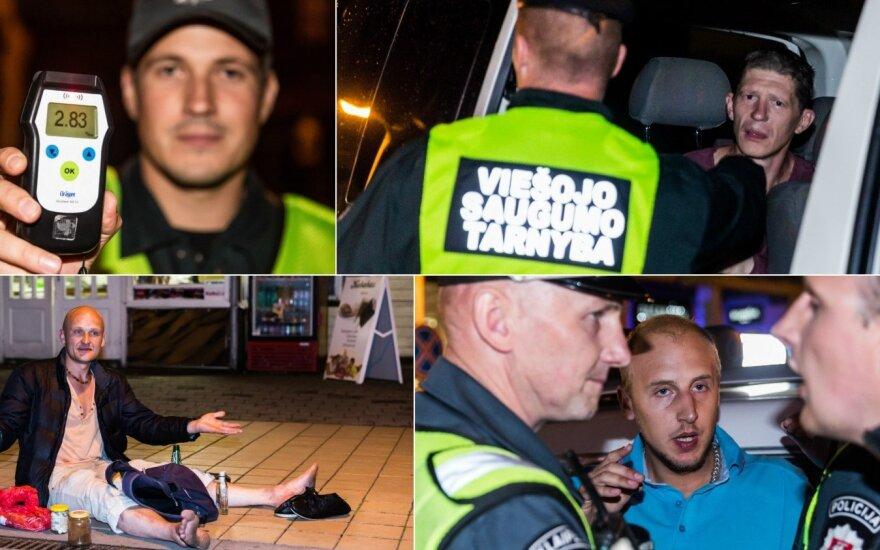 Ночь в Паланге: нарушающие закон иностранцы и прыгавший по машинам мужчина