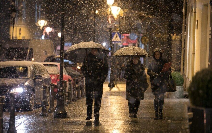 В первой половине недели в Литву ненадолго вернётся зимняя погода