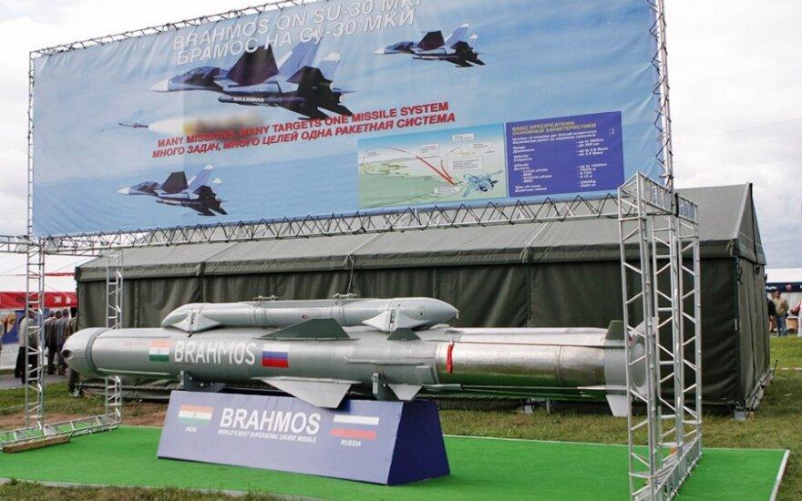 """Bendromis Rusijos ir Indijos pastangomis sukurta milžiniška raketa """"BrahMos"""""""
